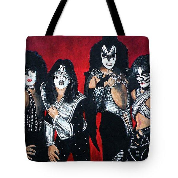 Kiss Tote Bag by Tom Carlton