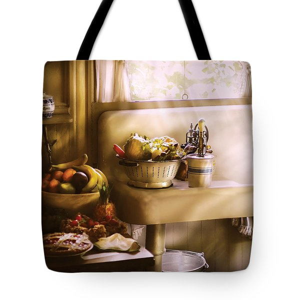Kitchen - A 1930's Kitchen  Tote Bag by Mike Savad