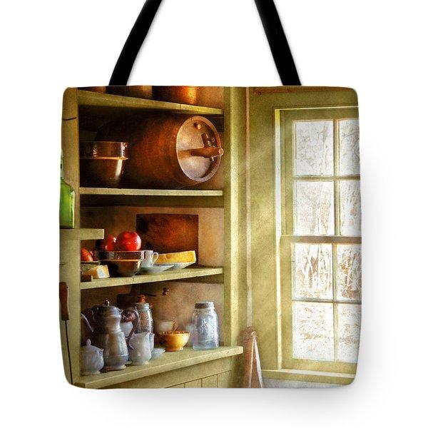 Kitchen - Kitchen Necessities Tote Bag by Mike Savad