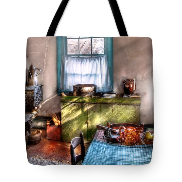 Kitchen - Old fashioned kitchen Tote Bag by Mike Savad