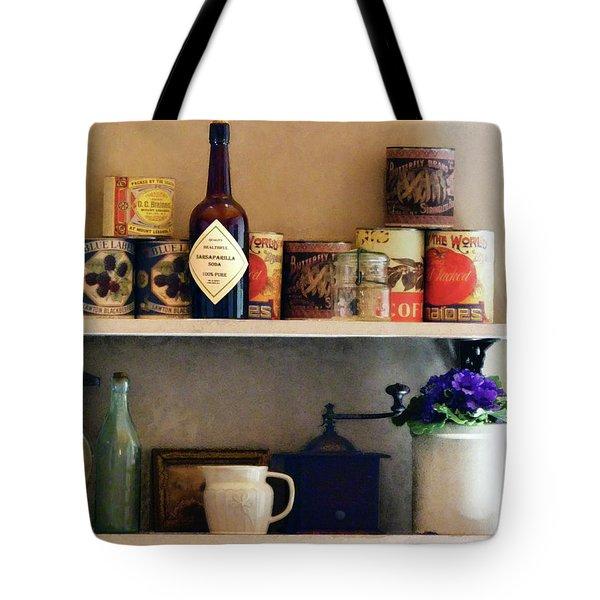 Kitchen Pantry Tote Bag by Susan Savad