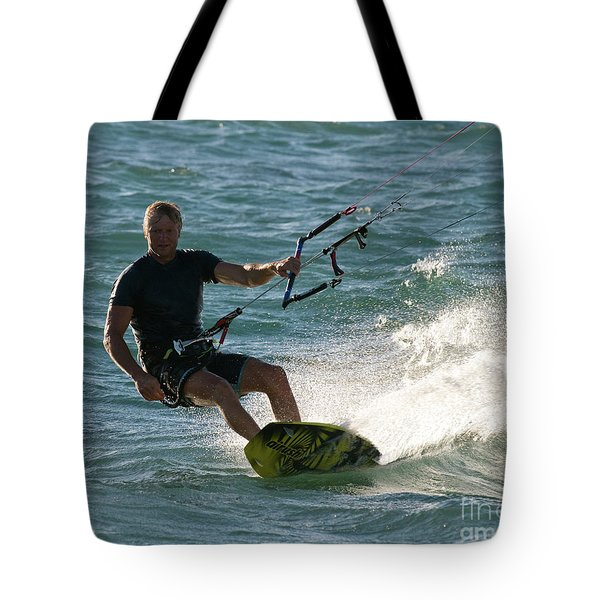 Kite Surfer 05 Tote Bag by Rick Piper Photography