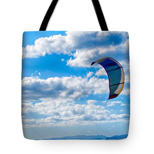 Kitesurfer Tote Bag by Antony McAulay