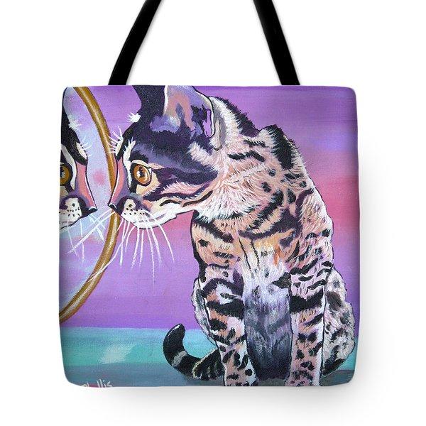 Kitten Image Tote Bag by Phyllis Kaltenbach