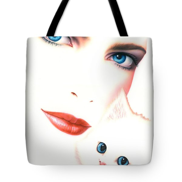 Kitten Love Tote Bag by Andrew Farley