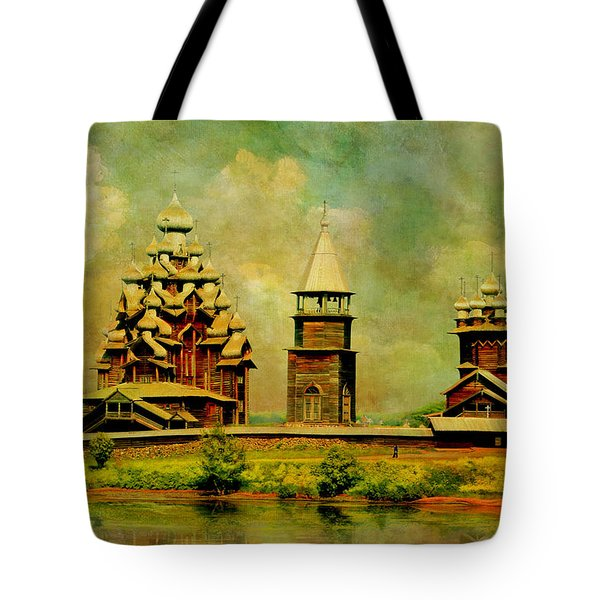 Kizhi Pogost Tote Bag by Catf