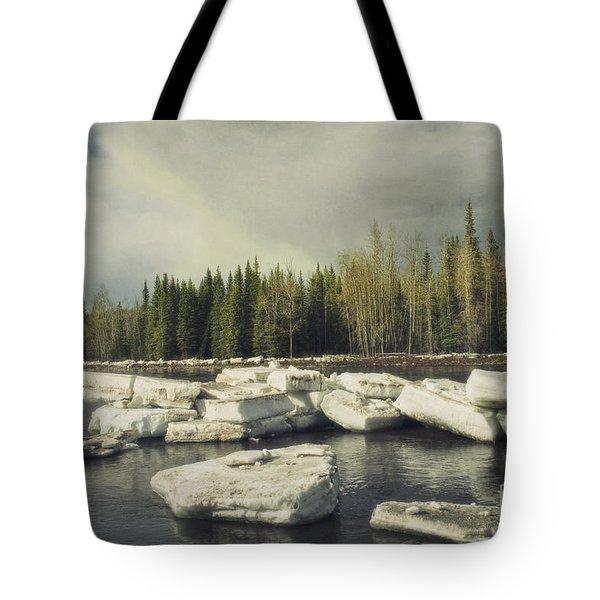 Klondike River Ice Break Tote Bag by Priska Wettstein