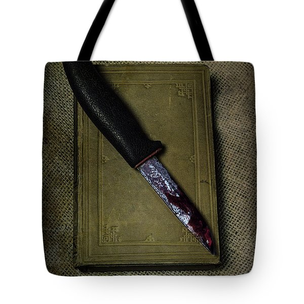 Knife With Book Tote Bag by Joana Kruse