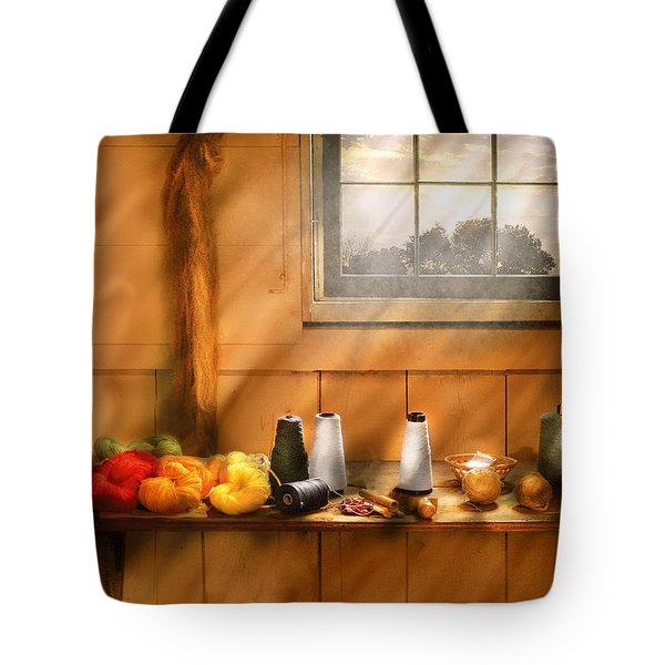 Knitting - Yarn  Tote Bag by Mike Savad