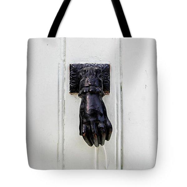 Knock Knock Tote Bag by Georgia Fowler