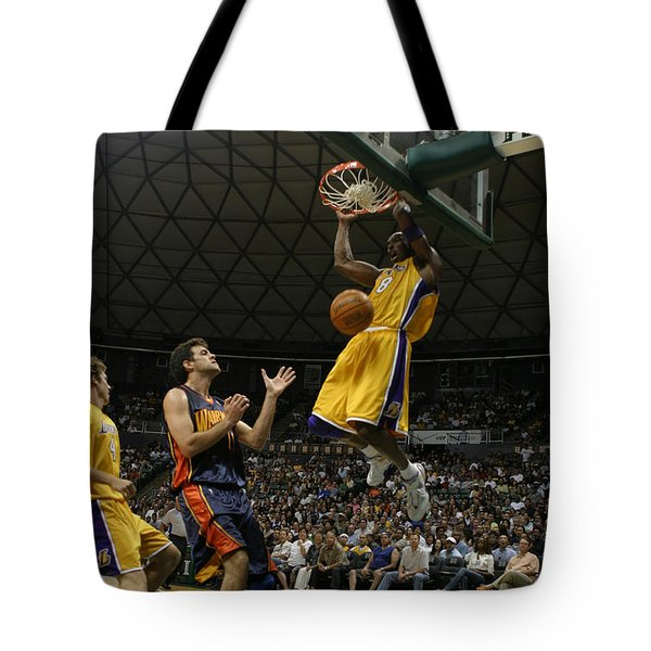 Kobe Bryant Dunk Tote Bag by Mountain Dreams
