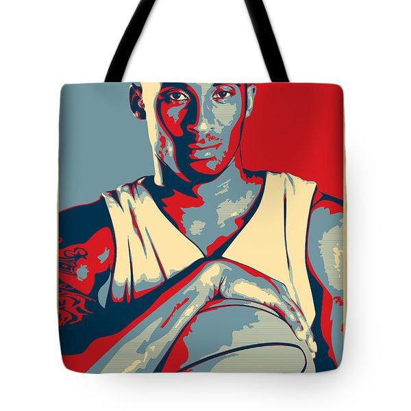 Kobe Bryant Tote Bag by Taylan Apukovska