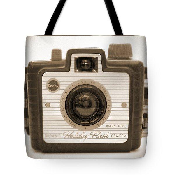Kodak Brownie Holiday Flash Tote Bag by Mike McGlothlen