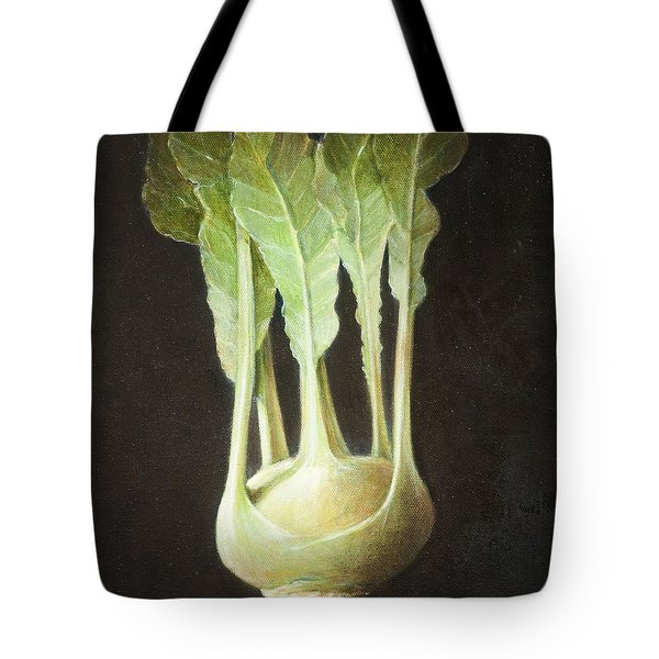 Kohl Rabi, 2012 Acrylic On Canvas Tote Bag by Lincoln Seligman