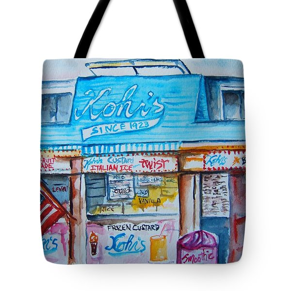 Kohrs Frozen Custard Tote Bag by Elaine Duras