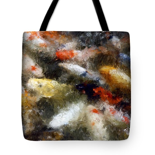 Koi Fish Of Sanjusangendo Temple - Kyoto Japan Tote Bag by Daniel Hagerman