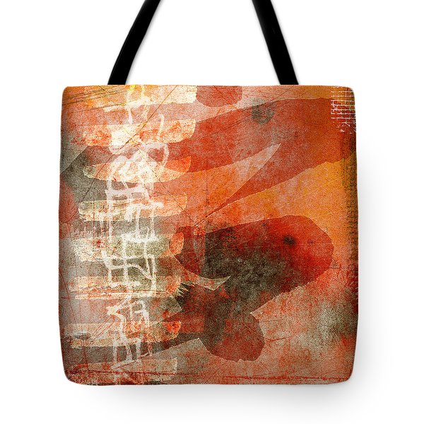 Koi In Orange Tote Bag by Carol Leigh