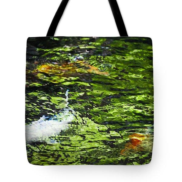 Koi Pond Tote Bag by Christi Kraft