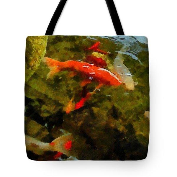 Koi Pond Tote Bag by Michelle Calkins