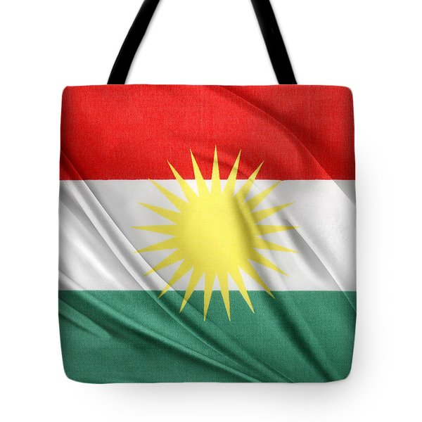 Kurdistan Flag Tote Bag by Les Cunliffe