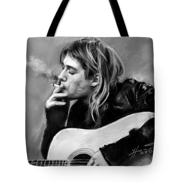 Kurt Cobain Guitar  Tote Bag by Viola El