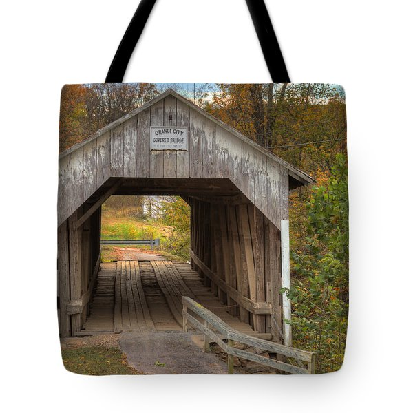 Ky Hillsboro Or Grange City Covered Bridge Tote Bag by Jack R Perry