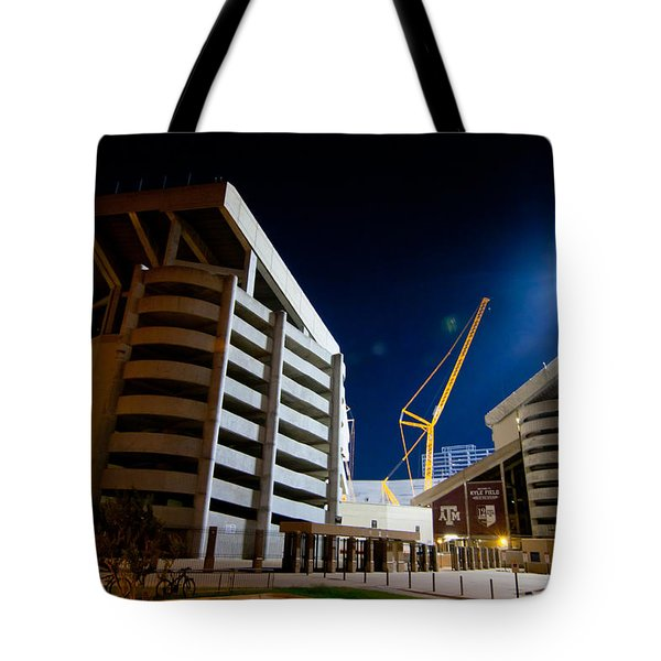 Kyle Field Construction Tote Bag by Linda Unger