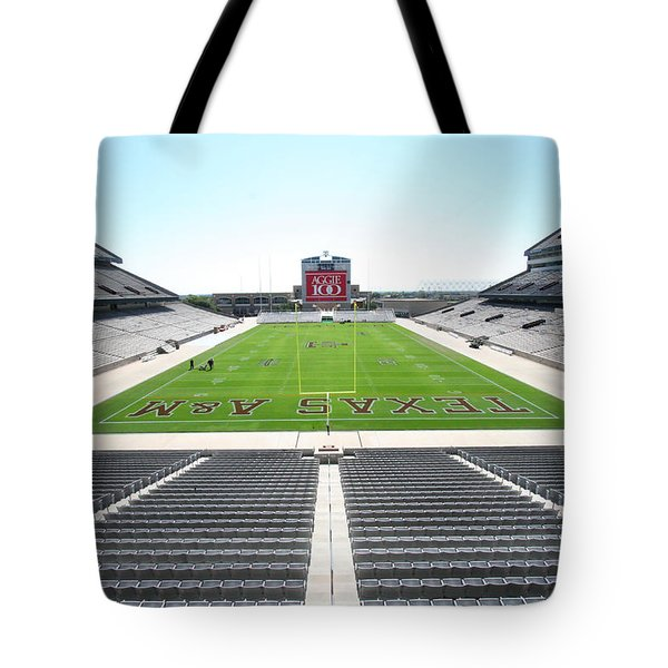 Kyle Field Tote Bag by Georgia Fowler