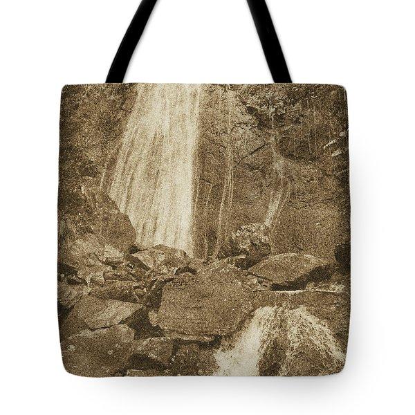La Coca Falls El Yunque National Rainforest Puerto Rico Prints Vintage Tote Bag by Shawn O'Brien