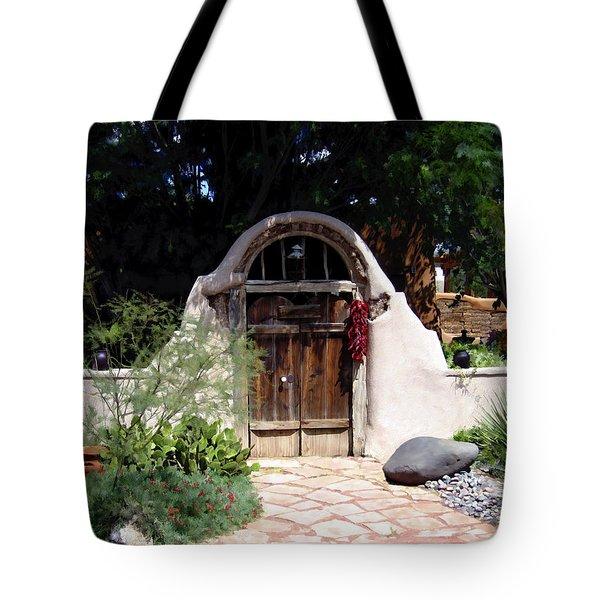 La Entrada A La Casa Vieja De Mesilla Tote Bag by Kurt Van Wagner