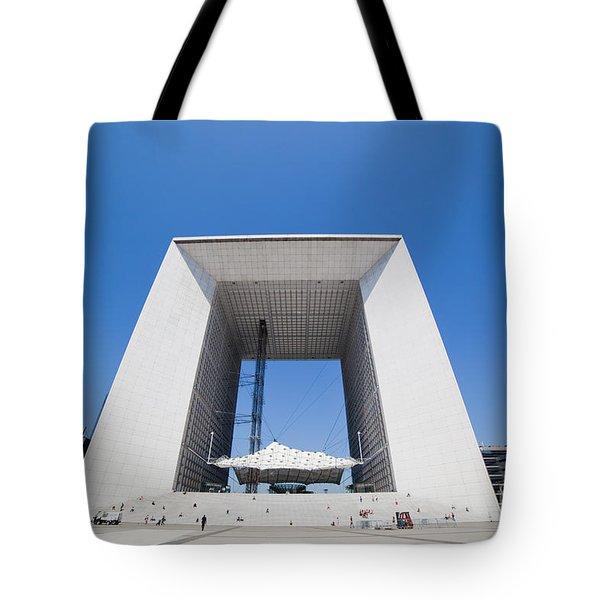 La Grande Arch in La Defense business district Paris France Tote Bag by Michal Bednarek