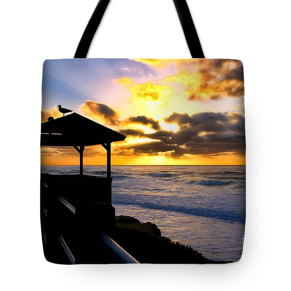 La Jolla At Sunset By Diana Sainz Tote Bag by Diana Sainz