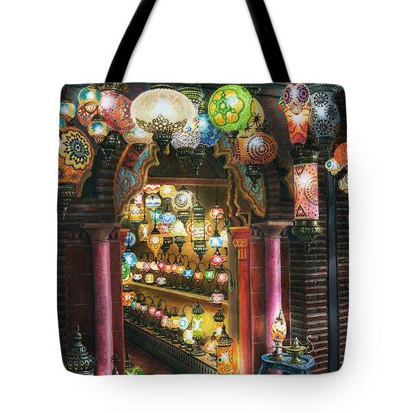La Lamparareia en la Noche Albacin Granada Tote Bag by Richard Harpum