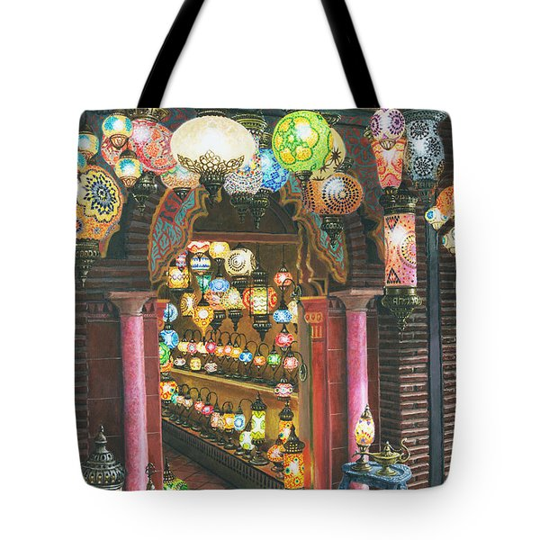 La Lampareria Albacin Granada Tote Bag by Richard Harpum
