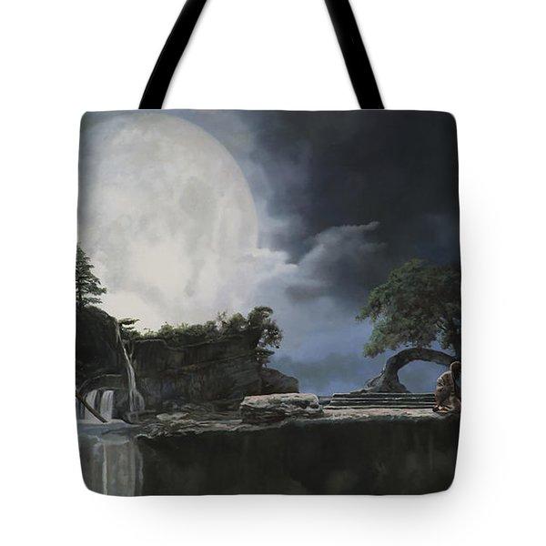La Luna Bianca Tote Bag by Guido Borelli