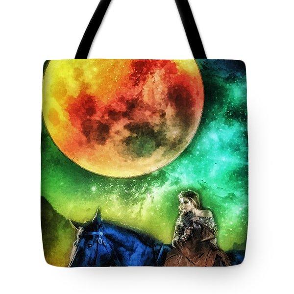 La Luna Tote Bag by Mo T
