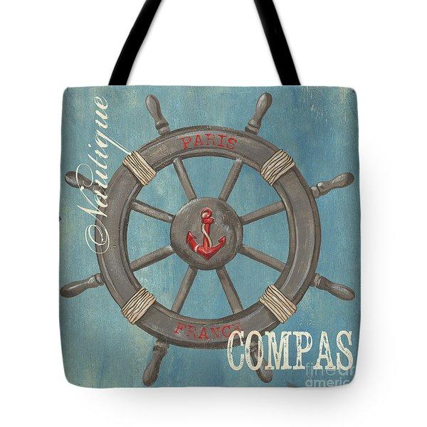 La Mer Compas Tote Bag by Debbie DeWitt
