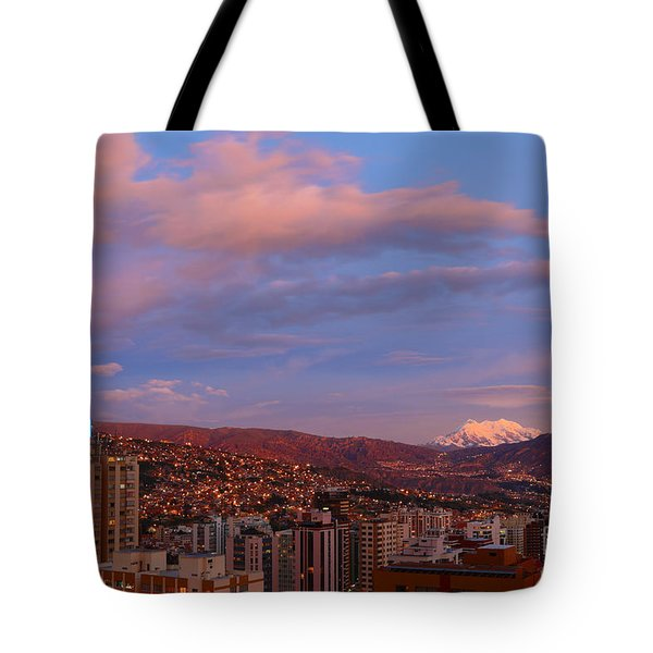La Paz Twilight Tote Bag by James Brunker