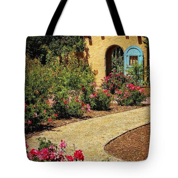 La Posada Gardens in Winslow Arizona Tote Bag by Priscilla Burgers