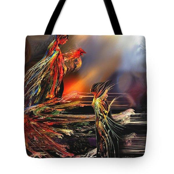 La Rencontre Tote Bag by Francoise Dugourd-Caput