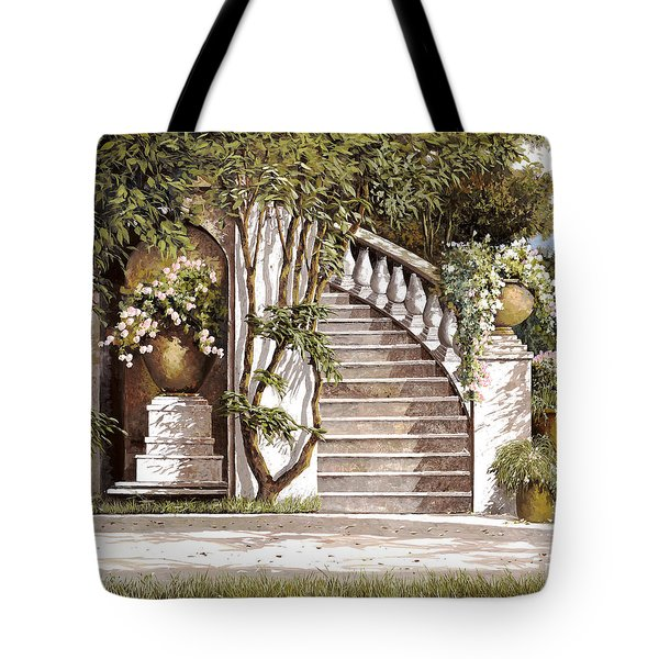 la scalinata Tote Bag by Guido Borelli