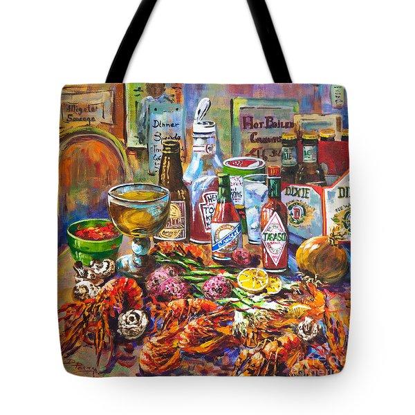 La Table De Fruits De Mer Tote Bag by Dianne Parks