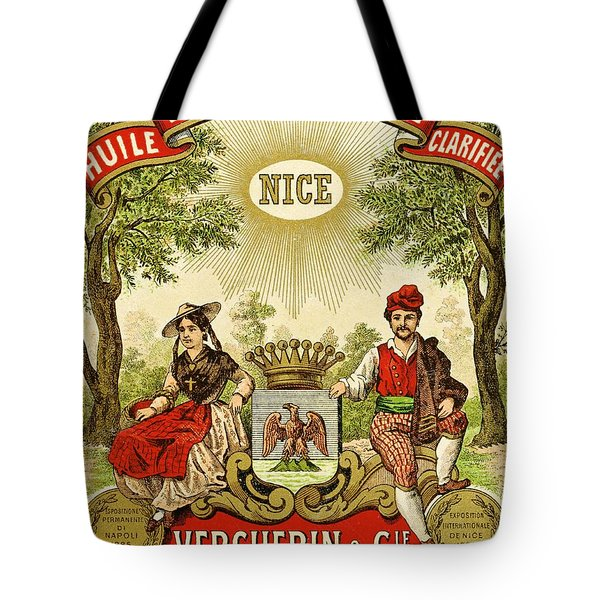 Label For Vercherin Extra Virgin Olive Oil Tote Bag by French School
