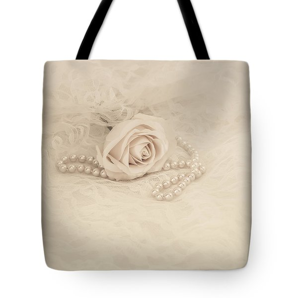 Lace and Promises Tote Bag by Kim Hojnacki