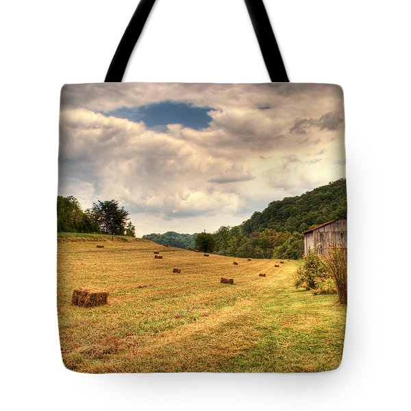 Lacy Farm Morgan County Kentucky Tote Bag by Douglas Barnett