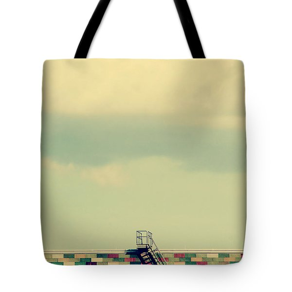 Ladder To Nowhere  Tote Bag by Trish Mistric