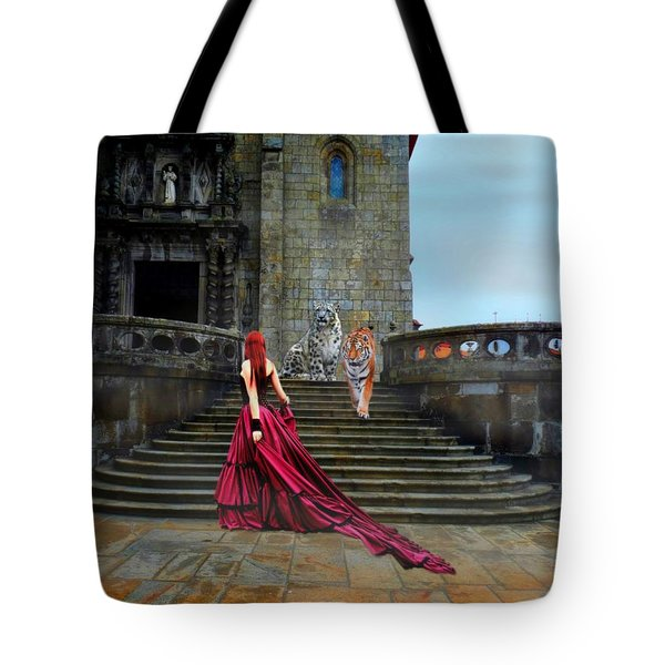 Lady And The Tigers Tote Bag by Amanda Struz