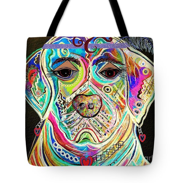 LADY BOXER Tote Bag by Eloise Schneider