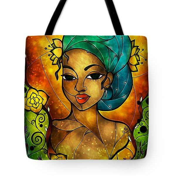 Lady Creole Tote Bag by Mandie Manzano