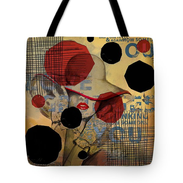 Lady In Red Tote Bag by Corporate Art Task Force